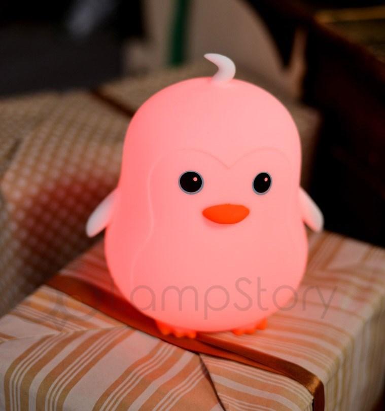 Ночник беспроводной силиконовый Пингвинчик - фото 5287