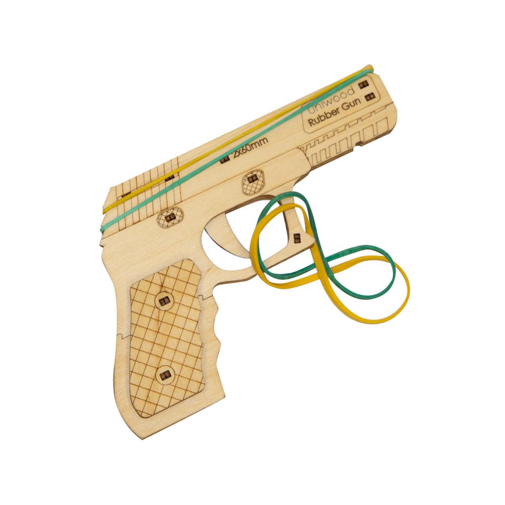 Деревянный конструктор Резиночный пистолет Rubber Gun - фото 5564