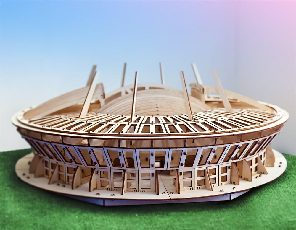 Деревянный конструктор Стадион Санкт-Петербург 30 см - фото 5566