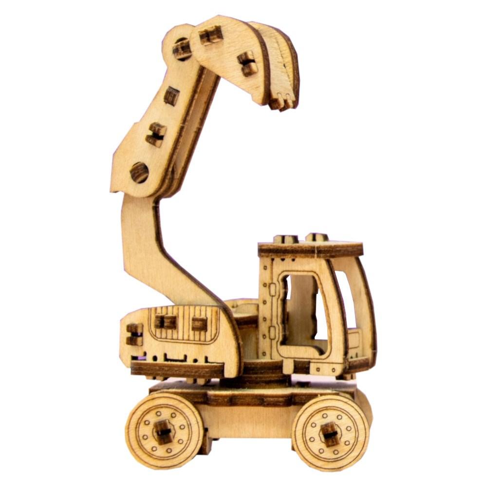Деревянный конструктор Экскаватор - фото 5601