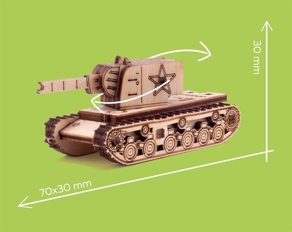 Деревянный конструктор Танк Т-34 - фото 5612