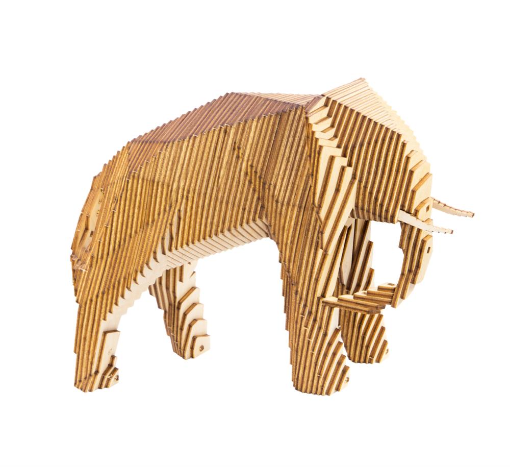 Деревянный конструктор Слон - фото 5653