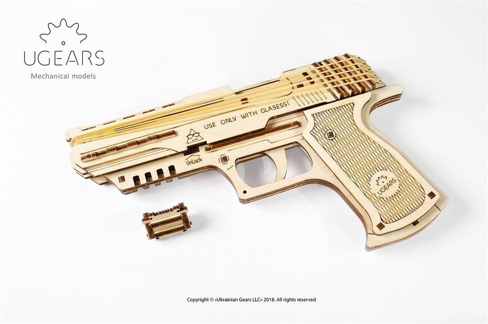 "Пистолет ""Wolf-01"" (Вольф-01) от UGEARS - фото 5916"