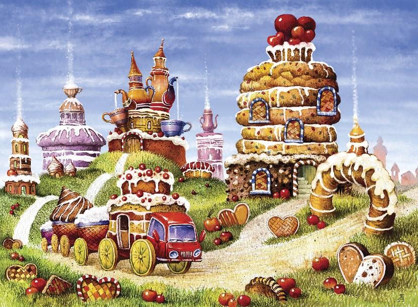 Деревянные пазлы БИСКВИТНЫЕ ГОРКИ 170 деталей - фото 5938