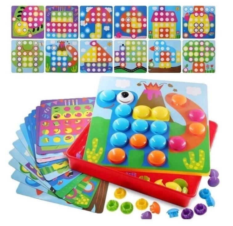 """Мозаика """"Цветная фантазия"""" с большими пуговицами-кнопками - фото 6121"""