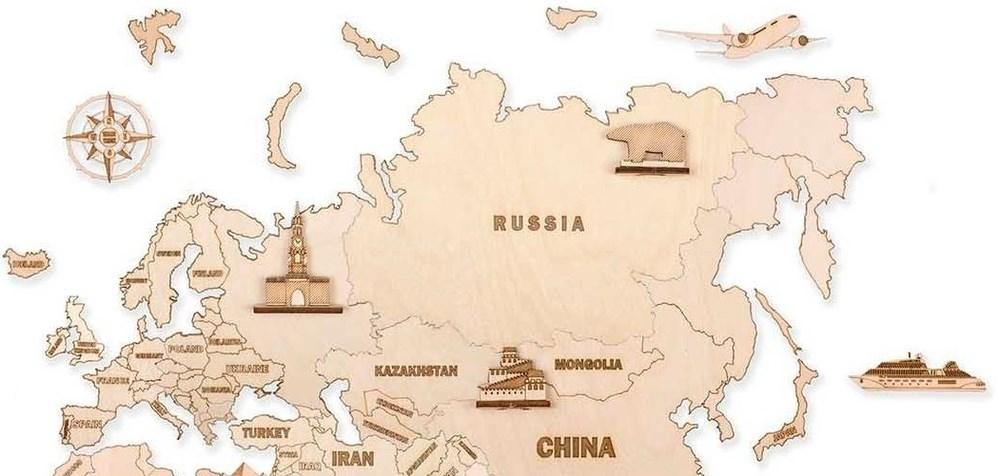 Фигуры на деревянную карту Евразия - фото 6186