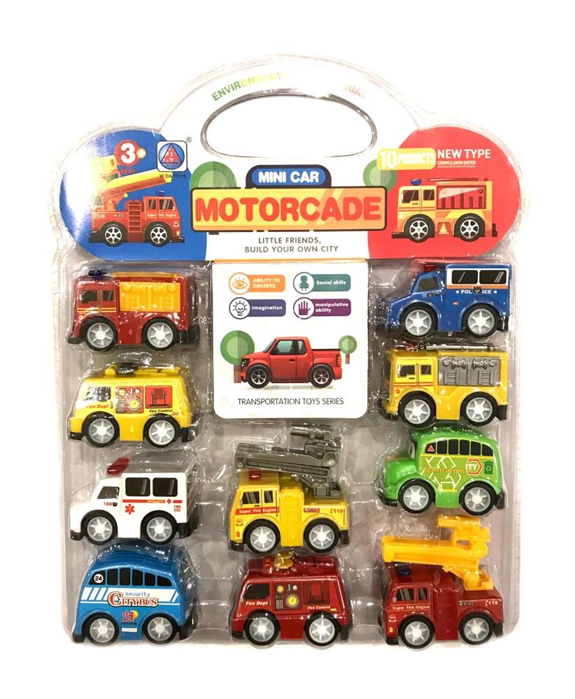 Мини-набор машинок служебных автомобилей Motorcade - фото 6262