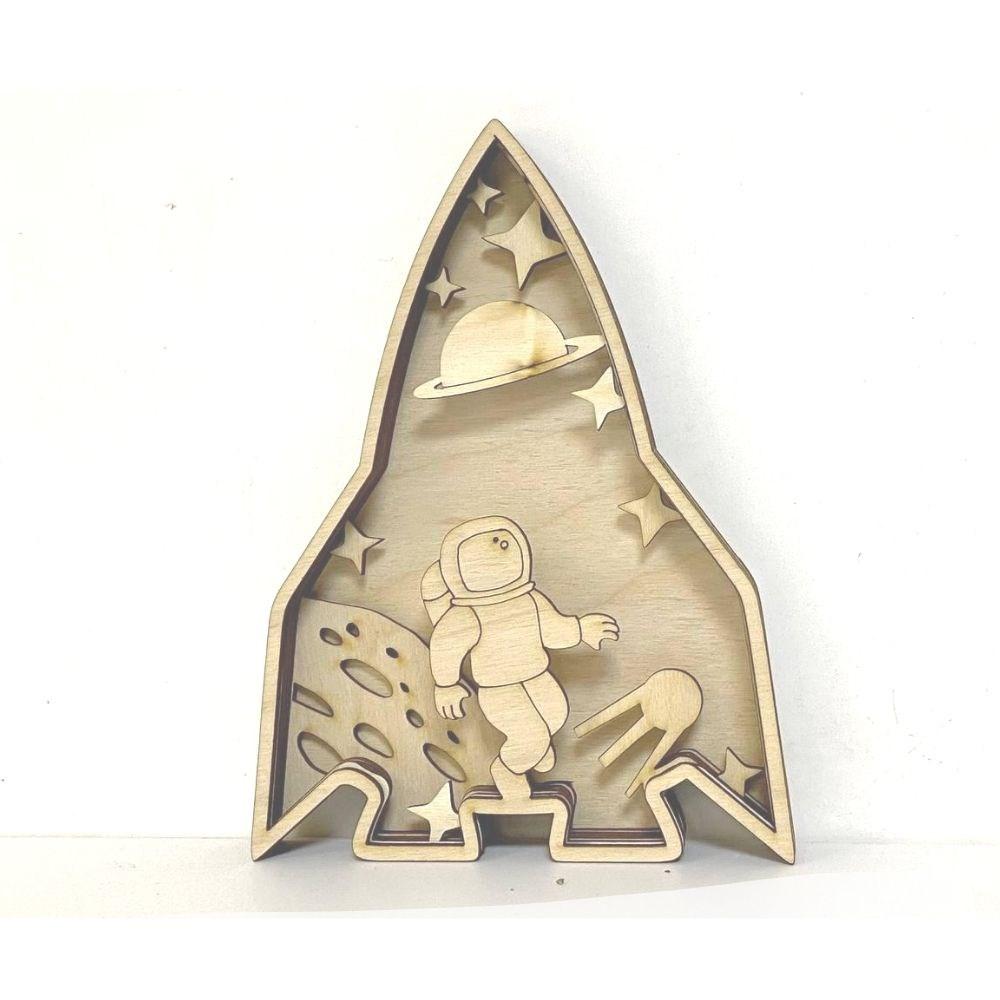 Деревянная 3D раскраска Космос - фото 6298