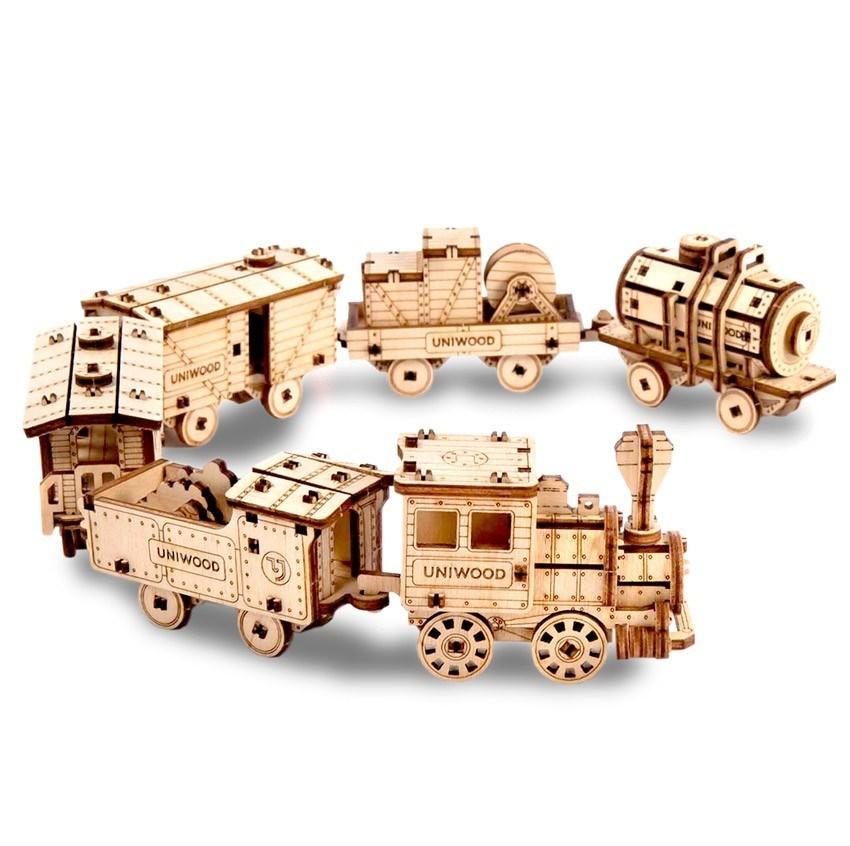 """Набор миниатюрных конструкторов """"Поезд"""" / 6 моделей - фото 6333"""