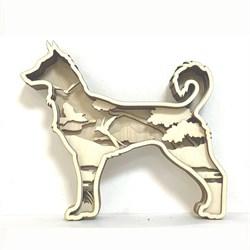 Деревянная 3D раскраска Собака